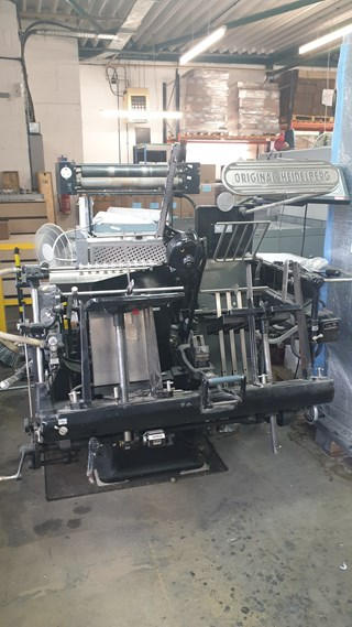 Heidelberg GT 13 X 18 - with B&H Electronic Foil Attachment Heissfoliendruck