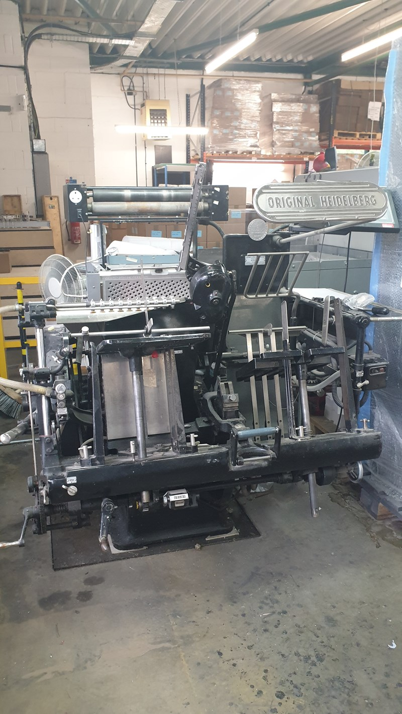 Show details for Heidelberg GT 13 X 18 - with B&H Electronic Foil Attachment