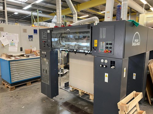 Man Roland R 705 3B LV UV with Inline Foiler