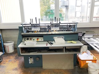 Hunkeler VEA 520 K end sheet gluing machine Hard Cover Book block production / sewing