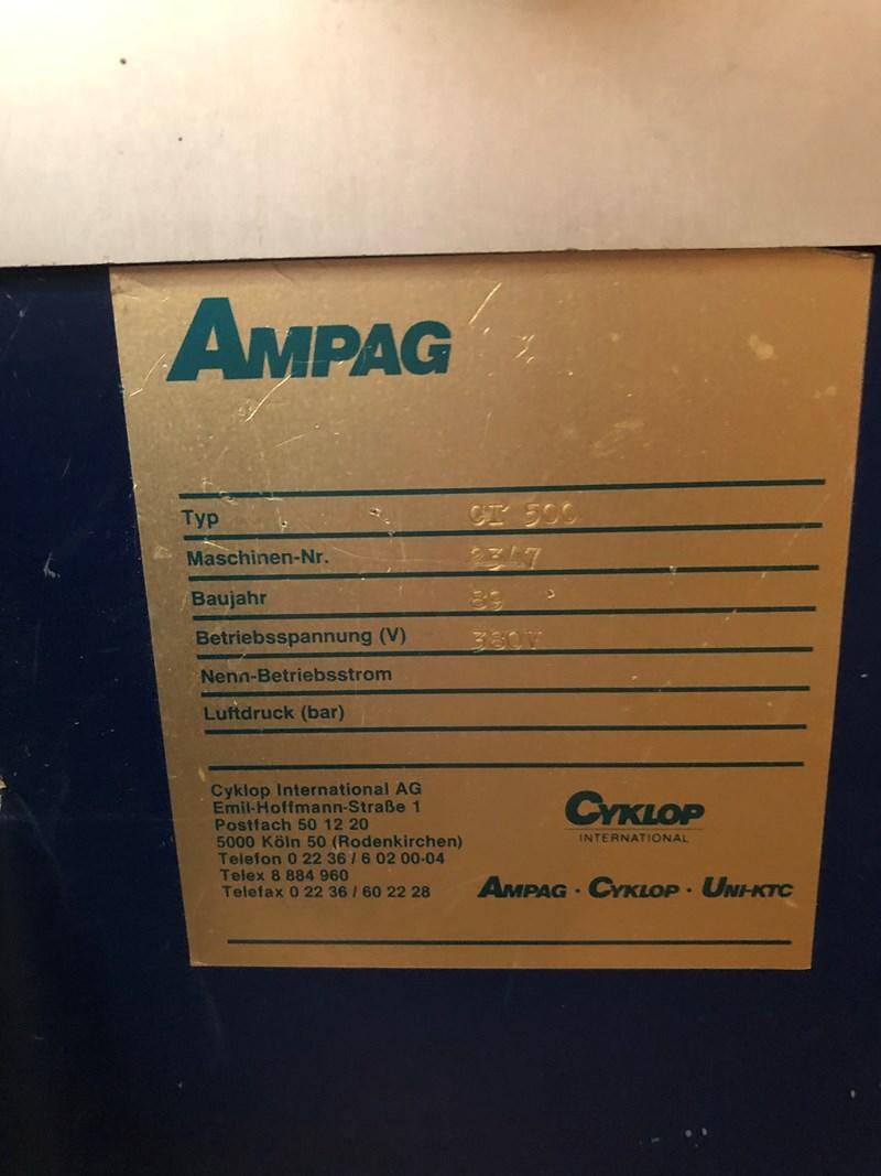 Cyklop Ampag CT 500 pallet wrapper