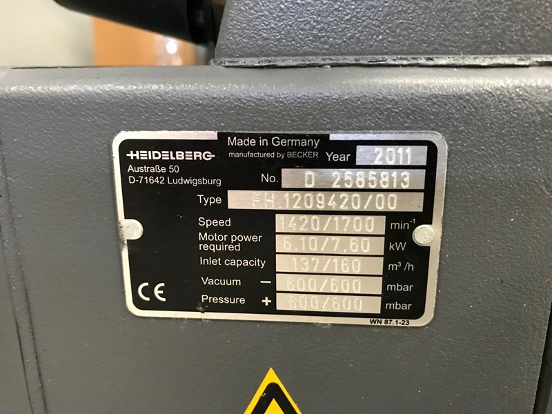 Heidelberg pressure / vacuum pump FH.1209420/00