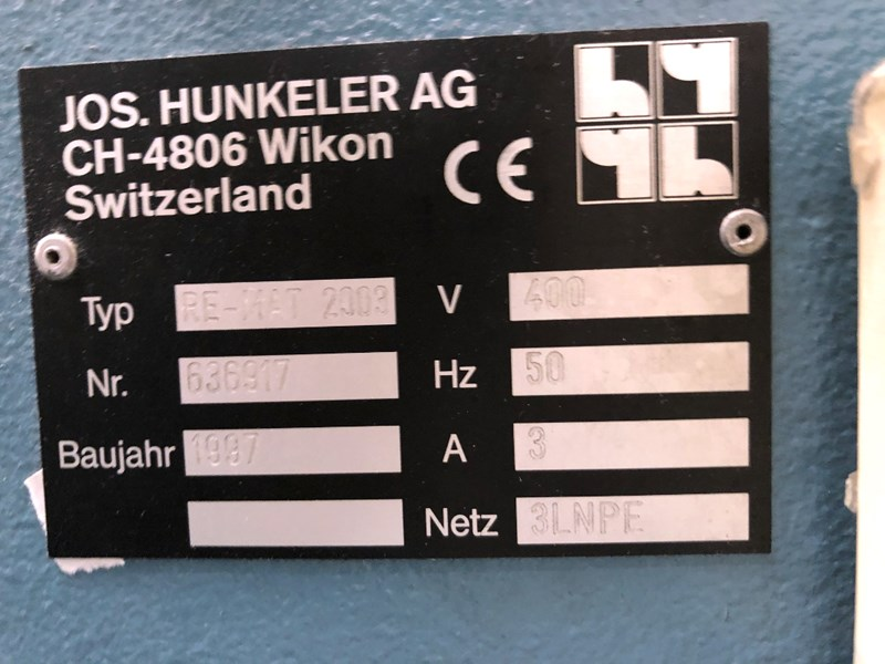 Hunkeler Re-Mat 320 Index Cutter