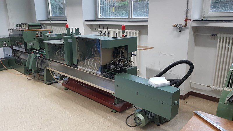 Show details for Müller Martini 321 saddle stitcher