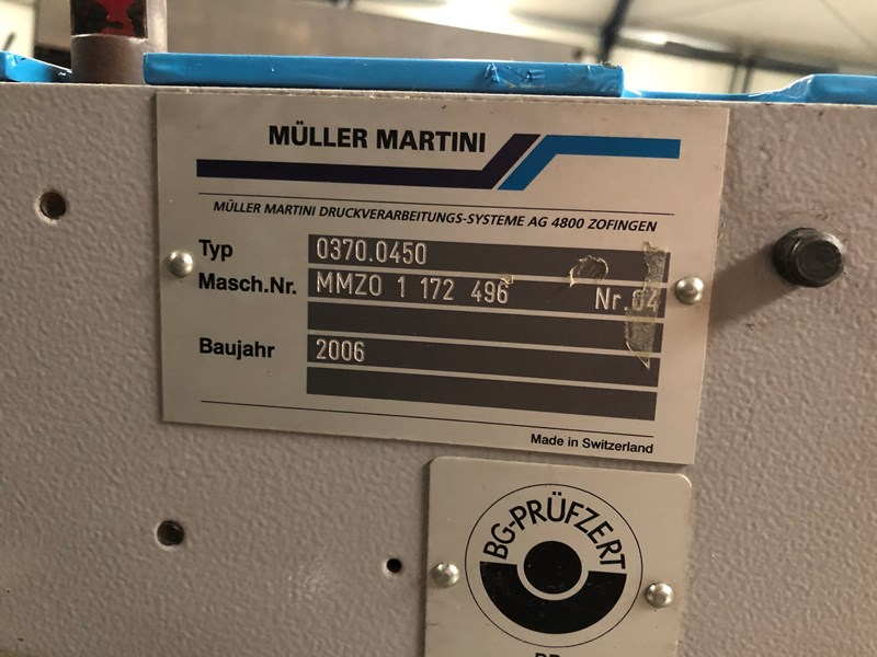 Müller Martini 370 feeder