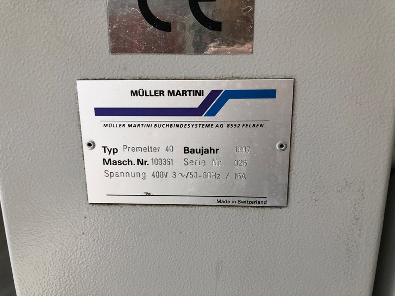 Müller Martini Premelter 40