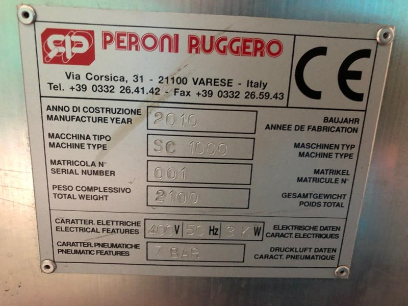Peroni Ruggero SC 1000 Grooving Machine