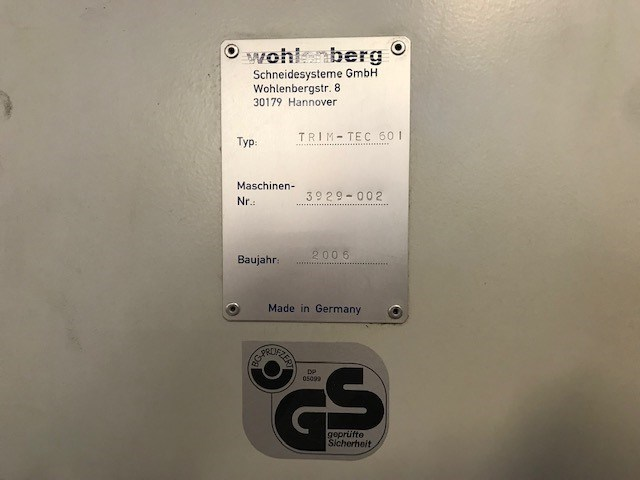 Wohlenberg Trim Tec 60i