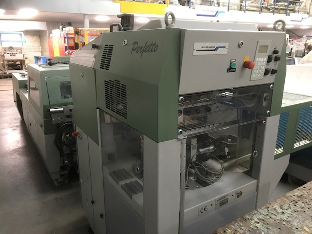 Muller Martini Bravo Plus Amrys Saddle Stitcher