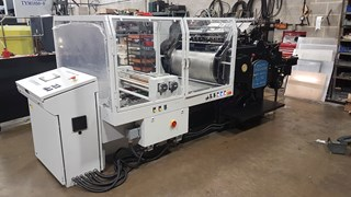 Heidelberg SBG Cylinder fitted with 2019 hot foil Conversion BY B&H Foil Blockers