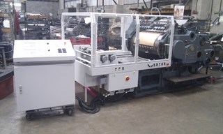 Hot foil Cylinder fully rebuilt with new B&H Hot foil conversion Foil Blockers