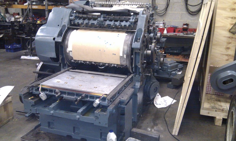 Hot foil Cylinder fully rebuilt with new B&H Hot foil conversion