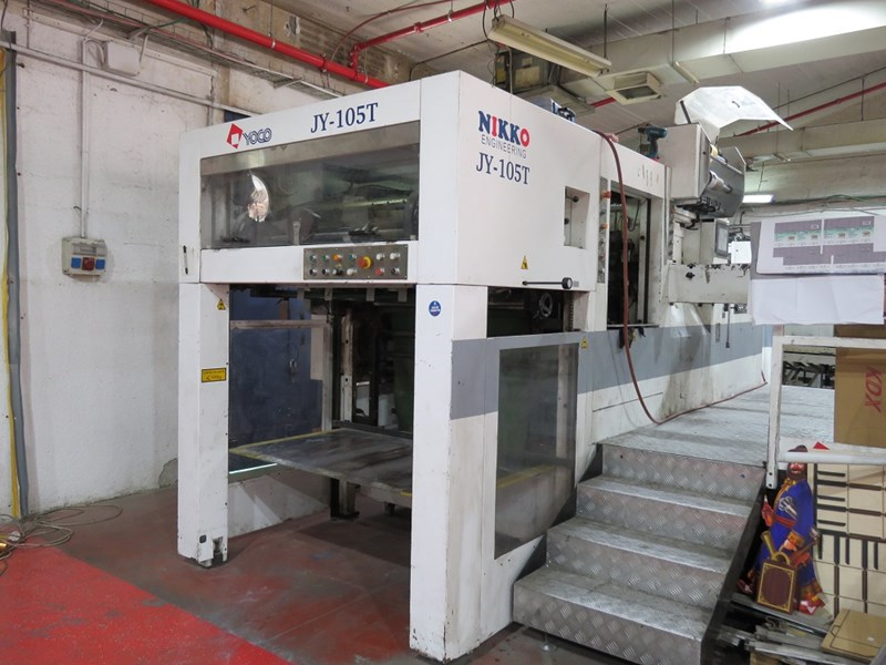 Show details for JY 105 T Automatic die cutting and hot foil