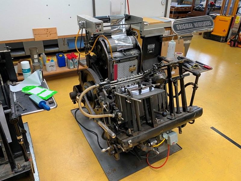 Show details for Heidelberg Tiegel A4 with foil