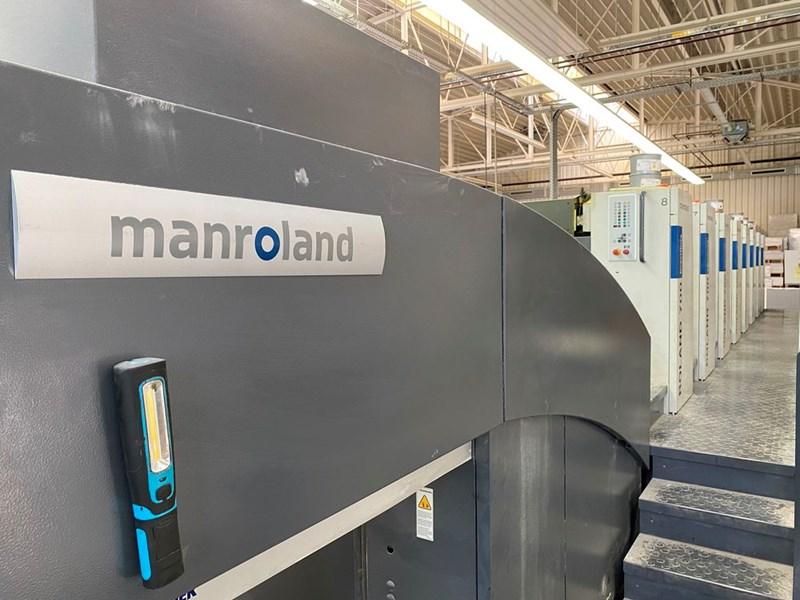 Manroland 708 3B P, Direct Drive, Inline Colour Pilot