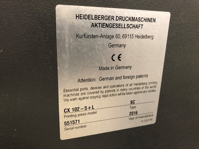 Heidelberg CX102-5LX LE UV