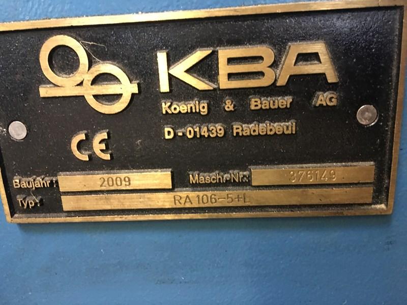 KBA Rapida 106-5L ALV2 CX UV