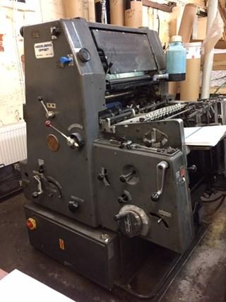 Heidelberg GTO 46 + n&p Gebrauchte Bogenoffsetmaschinen