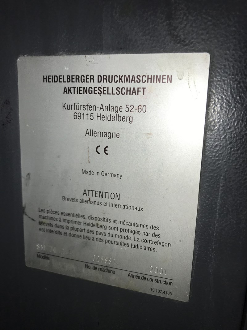 Heidelberg SM 74 2H