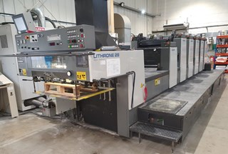 Komori Lithrone L 528 EM plus Coater Offset de pliegos