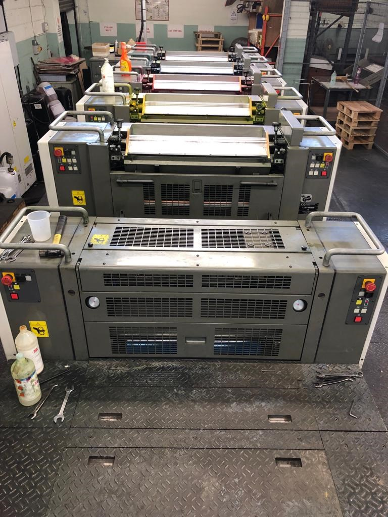 Komori Lithrone LS 529 plus Coater UV