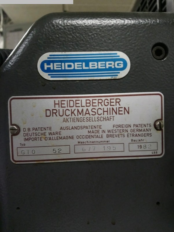 HEIDELBERG GTO 52