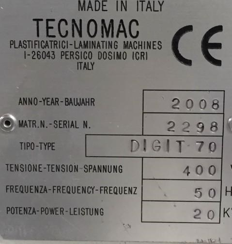 Tecnomac SYNERGY DIGIT 70