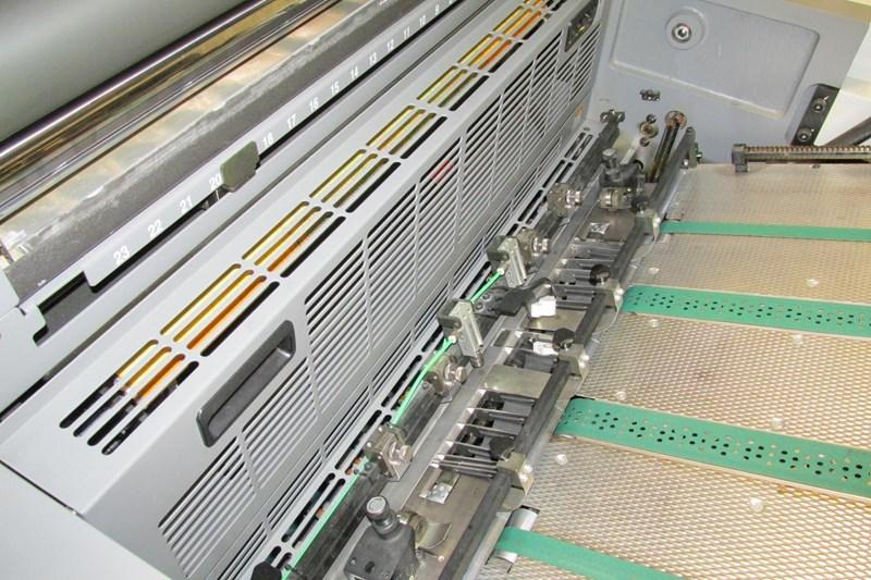 Ryobi 754 Wide SW UV-Coater 2009 — only 2 mio prints Like New!!–