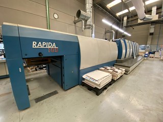 KBA Rapida 105-6+L CX ALV2 Hybrid Gebrauchte Bogenoffsetmaschinen