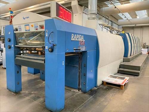 KBA Rapida 106 SIS SPC-6+L CX ALV2-18000k