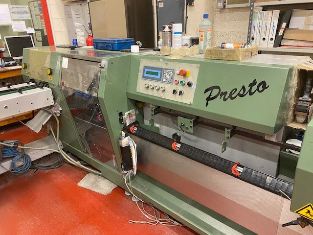 Show details for Müller Martini Presto Saddle Stitcher
