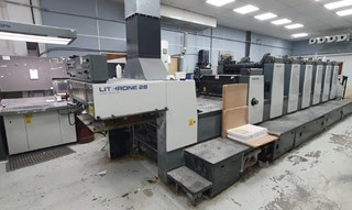 Komori Lithrone L628EM+C Sheet Fed