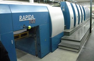 KBA  Rapida RA105 8 SW Sheet Fed