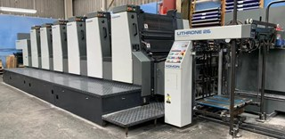 Komori  Lithrone L628 EM Offset de pliegos