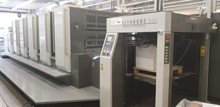 Komori Lithrone GL540+CX Offset de pliegos