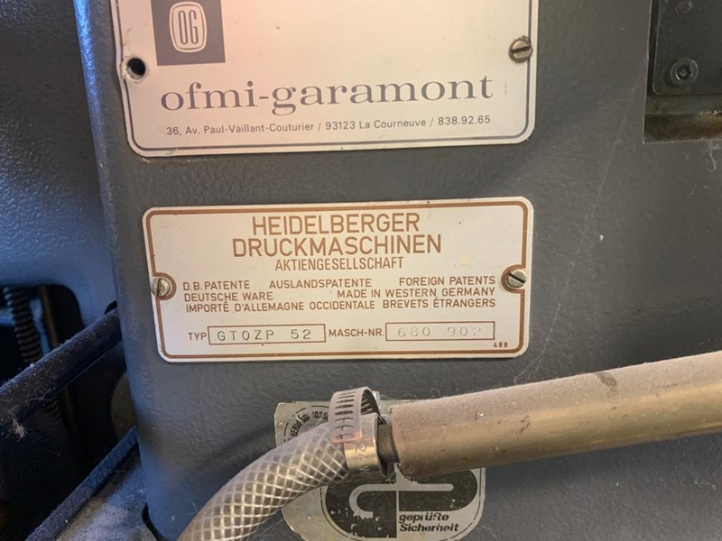Heidelberg GTO ZP 52 NP