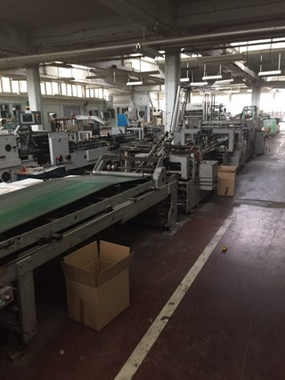 Bobst DOMINO 100-M Folder Gluers