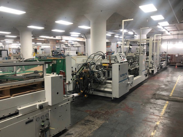 Bobst Alpina A3 110 Matic folder gluer capable of straightline, autolock bottom and 4/6 corner production