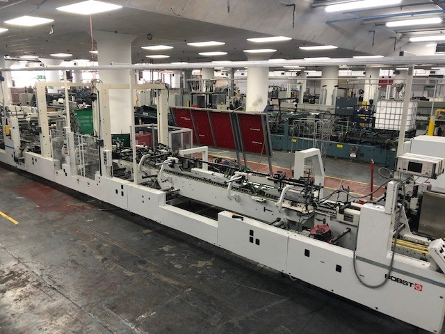 Show details for Bobst Alpina A3 110 Matic folder gluer capable of straightline, autolock bottom and 4/6 corner production