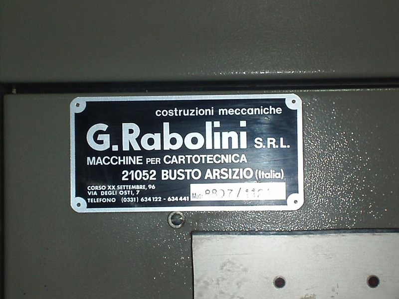 "RABOLINI IMPERIA mod.""D"" age 1988 with hotfoil attachment"