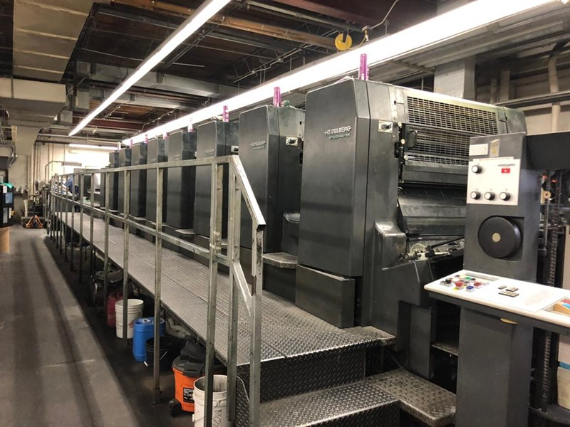 Heidelberg CD 102-8 LX Coater Pree set feeder and delivery