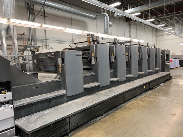 Heidelberg SM 102-6P coater Pree set plus feeder 2/4 pef