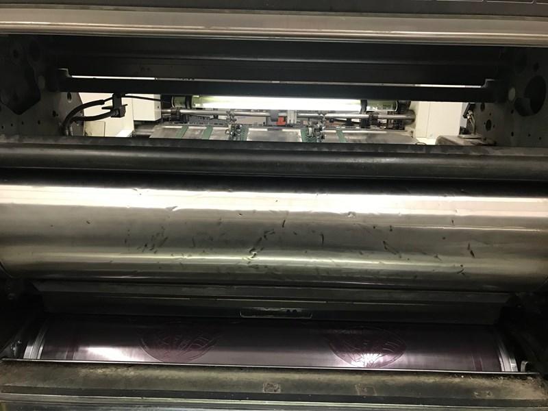 1992 Man Roland Model RH3BL-WW UV  28 x 40 inch UV Coating Machine