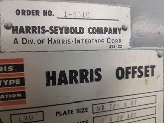 HARRIS LXQ 54-1/2 X 77 Sheet Fed