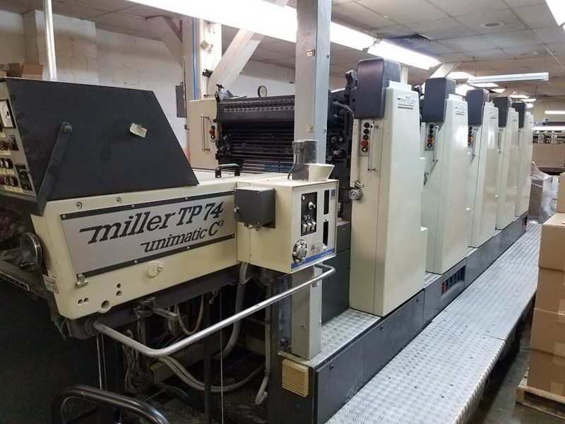 Miller TP-74 5/color perfects after 1st and 2nd units