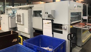 Bobst SP 104-E used diecutter with stripping AUTOPLATINES & DECOUPEUSES