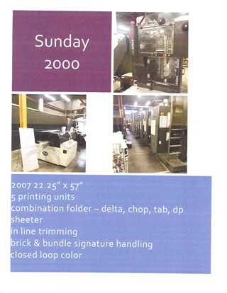 Sunday 2000 Screen Printing Equipment