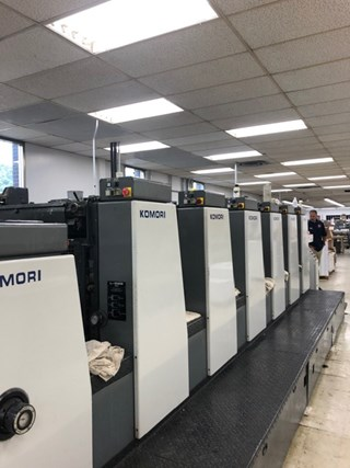Komori L628 + Coater Machines offset à feuilles