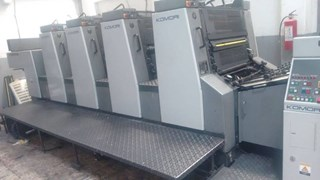 2001 Komori Lithrone 28 4 color Sheet Fed