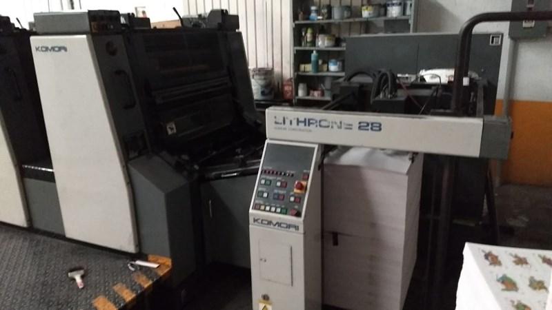 Komori L428 + Coater 4 Unit Press